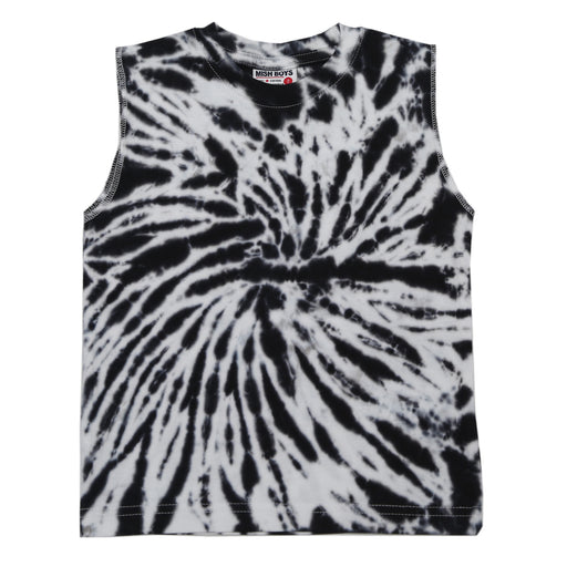 NEW! Muscle Tee - Tie dye black & white (6551957471307)
