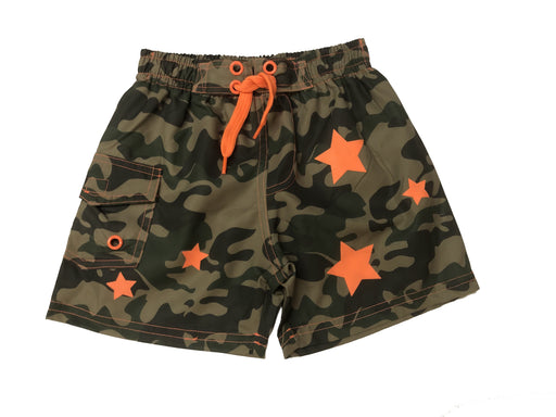 NEW SWIM! Board Shorts - Olive Camo Stars (4739753738315)