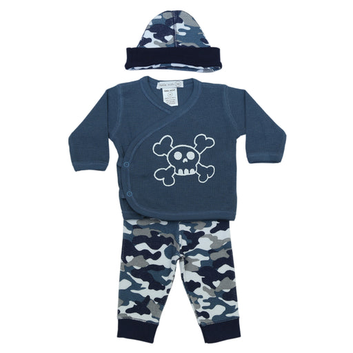 NEW FW20 Little Mish Thermal 3 Piece Take Me Home Set - Navy Camo with Skull (4653739081803)