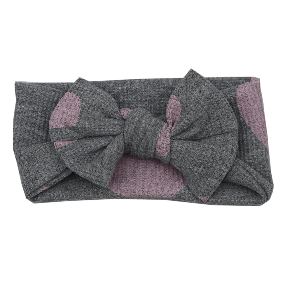 NEW FW20 Little Mish Thermal Headband - Pink Hearts on Heather (4653720666187)