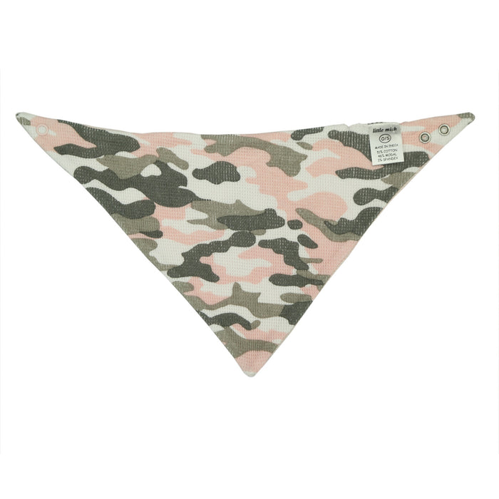 NEW FW20 Little Mish Reversible Thermal Bandana Bib - Pink Camo with Star (4653618430027)