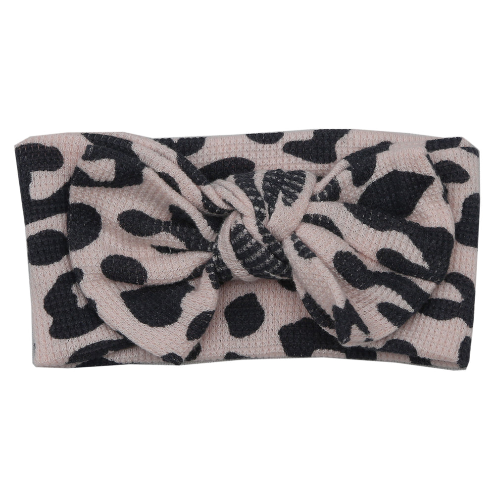 NEW FW20 Little Mish Thermal Headband - Coal and Pink Cheetah (4654371373131)