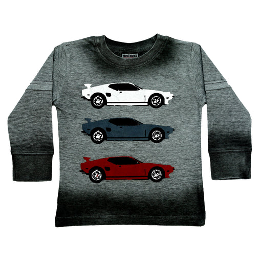 NEW Long Sleeve Ombre Thermal Shirt - Sports Cars (4663896440907)