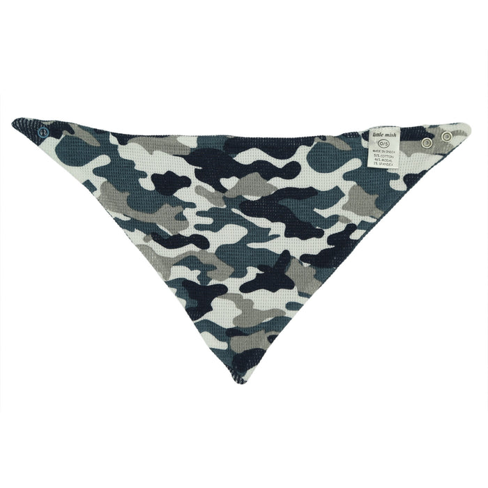 NEW FW20 Little Mish Reversible Thermal Bandana Bib - Navy Camo with Skull (4653615415371)