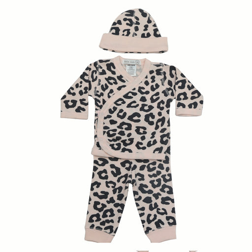 NEW FW20 Little Mish Thermal 3 Piece Take Me Home Set - Coal Cheetah on Pink (4653742424139)