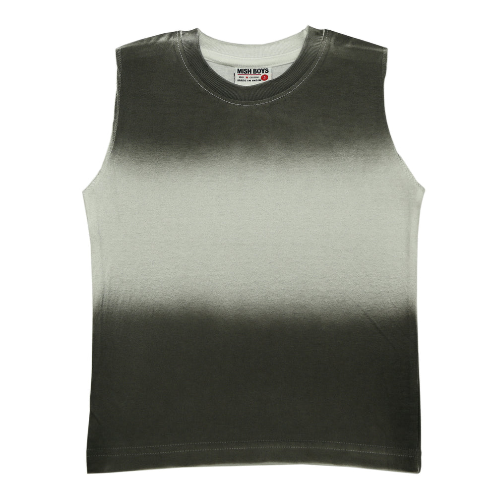 NEW! Muscle Tee - Ombre White and Black (6552074780747)