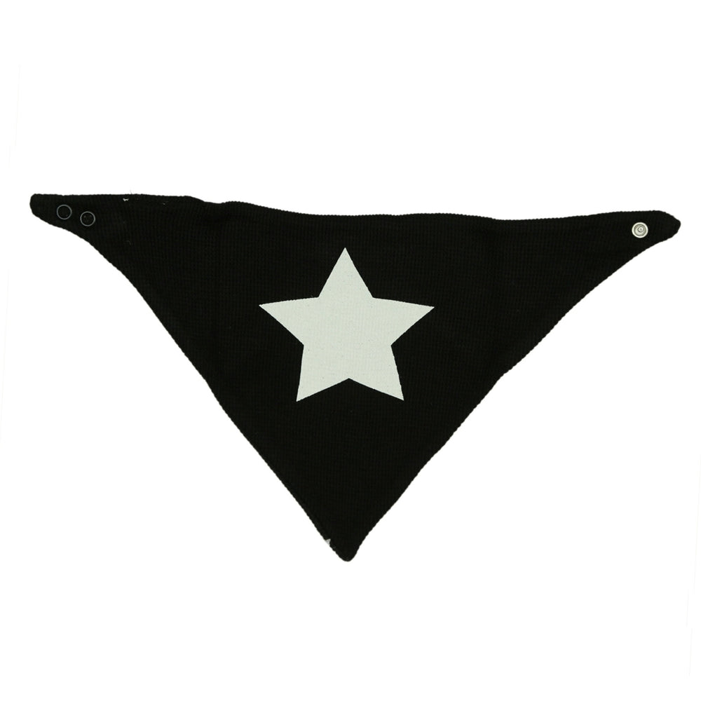 NEW FW20 Little Mish Reversible Thermal Bandana Bib - Black with White Star (4653619052619)