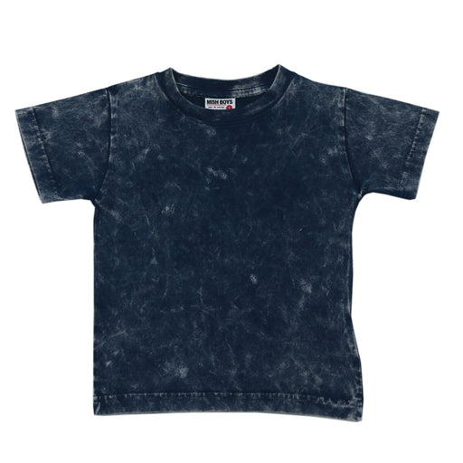 Solid Enzyme Wash Tee - Navy (4506070614091)