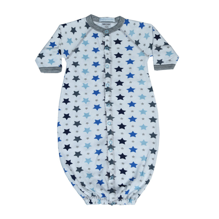 New Baby Steps Converter Gown - Blue Stars (4698098499659)
