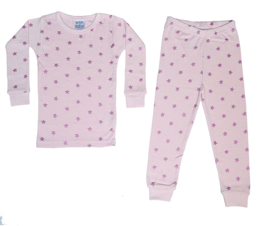 New BSteps Pajamas -Pink Foil Stars on Pink (4692218871883)
