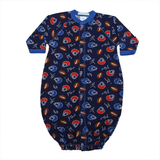 New Baby Steps Converter Gown - Football on Navy (4698098237515)
