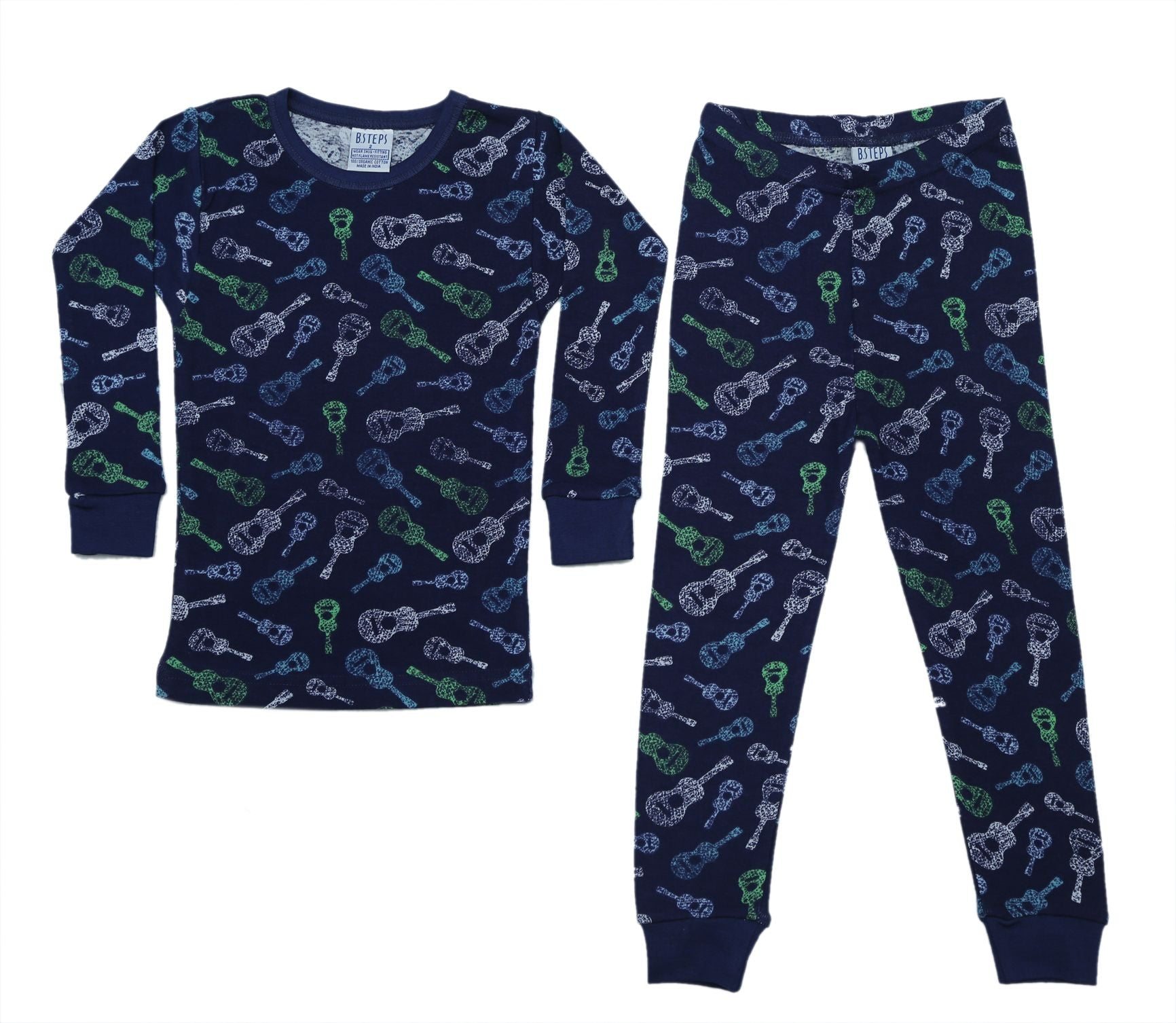 New BSteps Pajamas - Guitars on Navy (4696958763083)