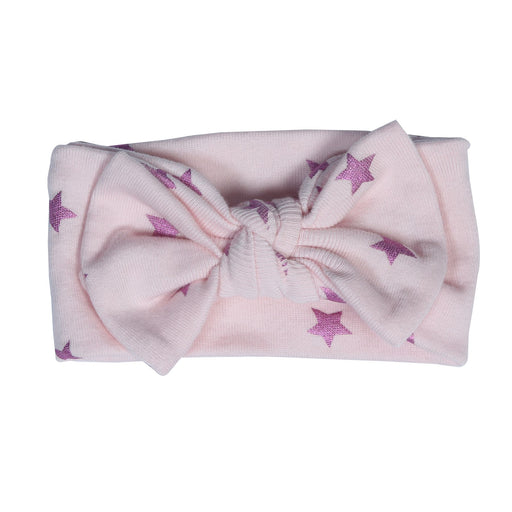 NEW!  Headband- Foil Stars on Pink (4698111541323)