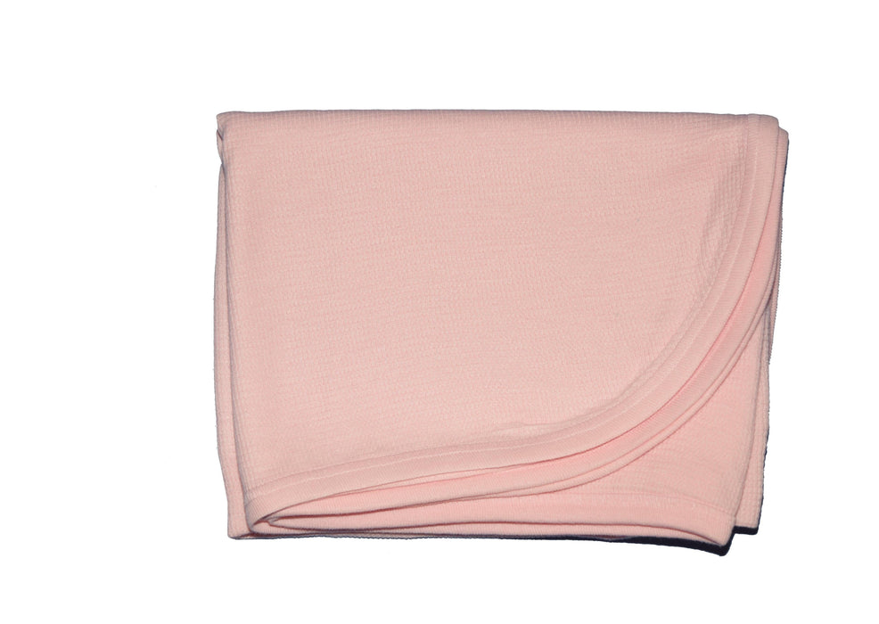 Little Mish SUPER SOFT Thermal Swaddle Blanket - Baby Pink