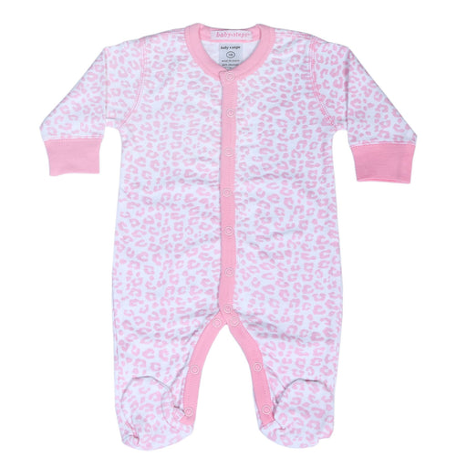 NEW!  Footie - Pink Cheetah **100% organic cotton** (4697611239499)