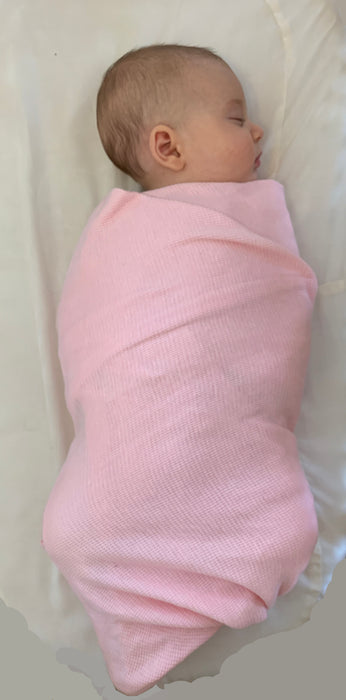 Little Mish SUPER SOFT Thermal Swaddle Blanket - Baby Pink (1516286214219)