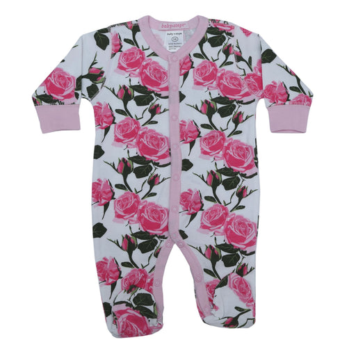 NEW!  Footie- Roses **100% organic cotton** (4697611272267)