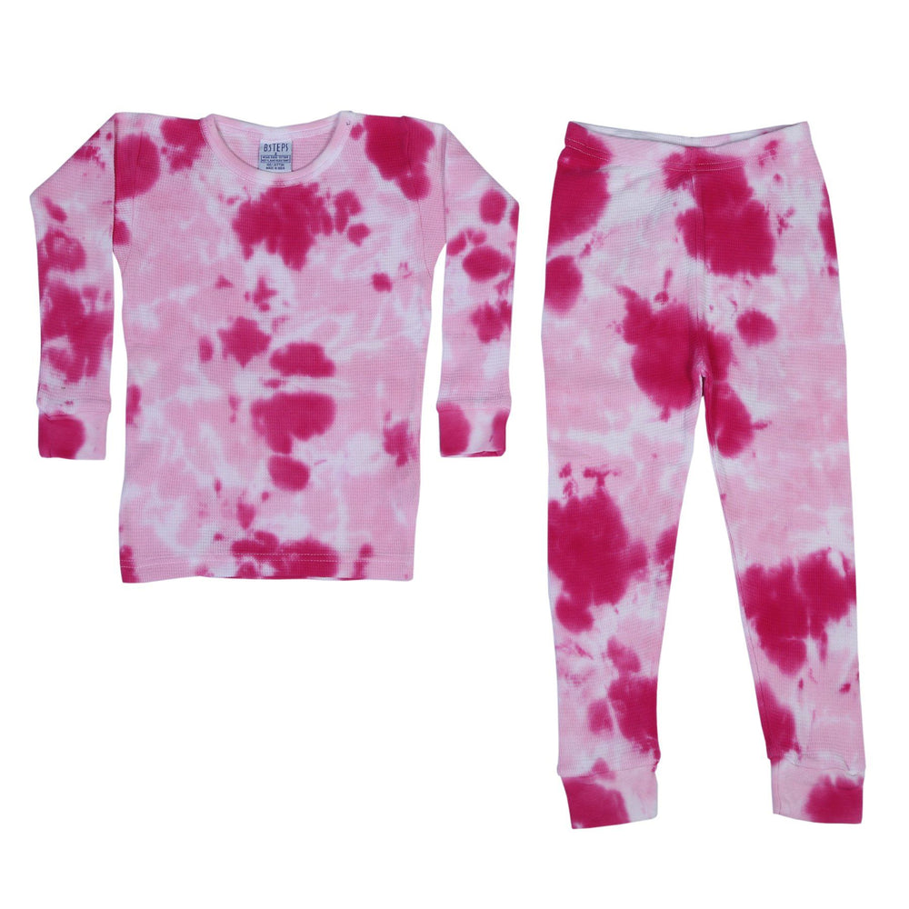 Thermal Tie Dye Pajamas - Roses (1475141664843)