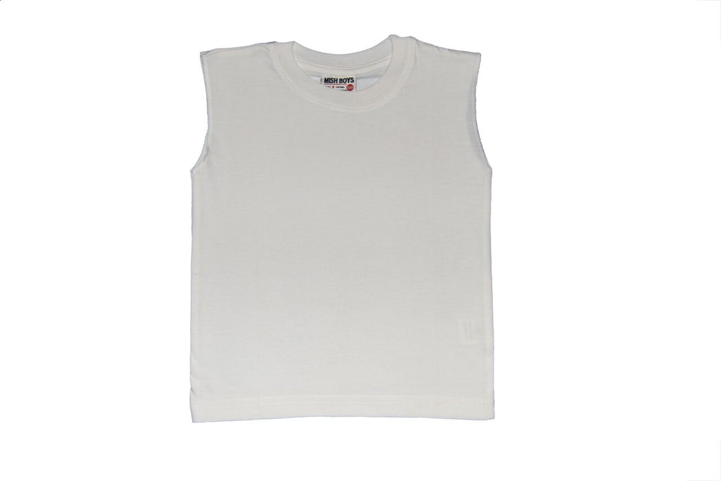 Solid Muscle Tee - White (1522436046923)