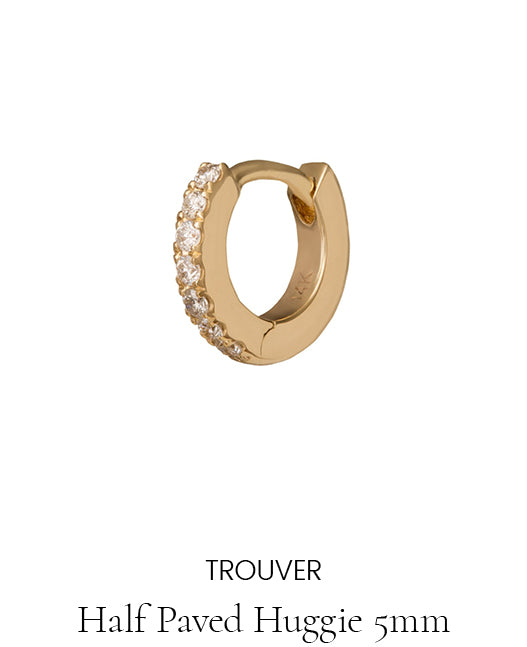 Trouver Half Paved Huggie 5mm