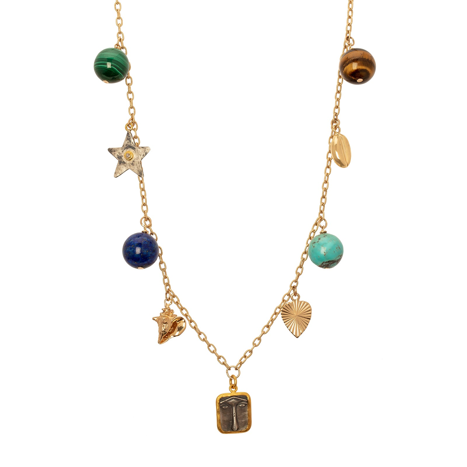 Haute Victoire Mixed Charm Necklace - Necklaces - Broken English Jewelry