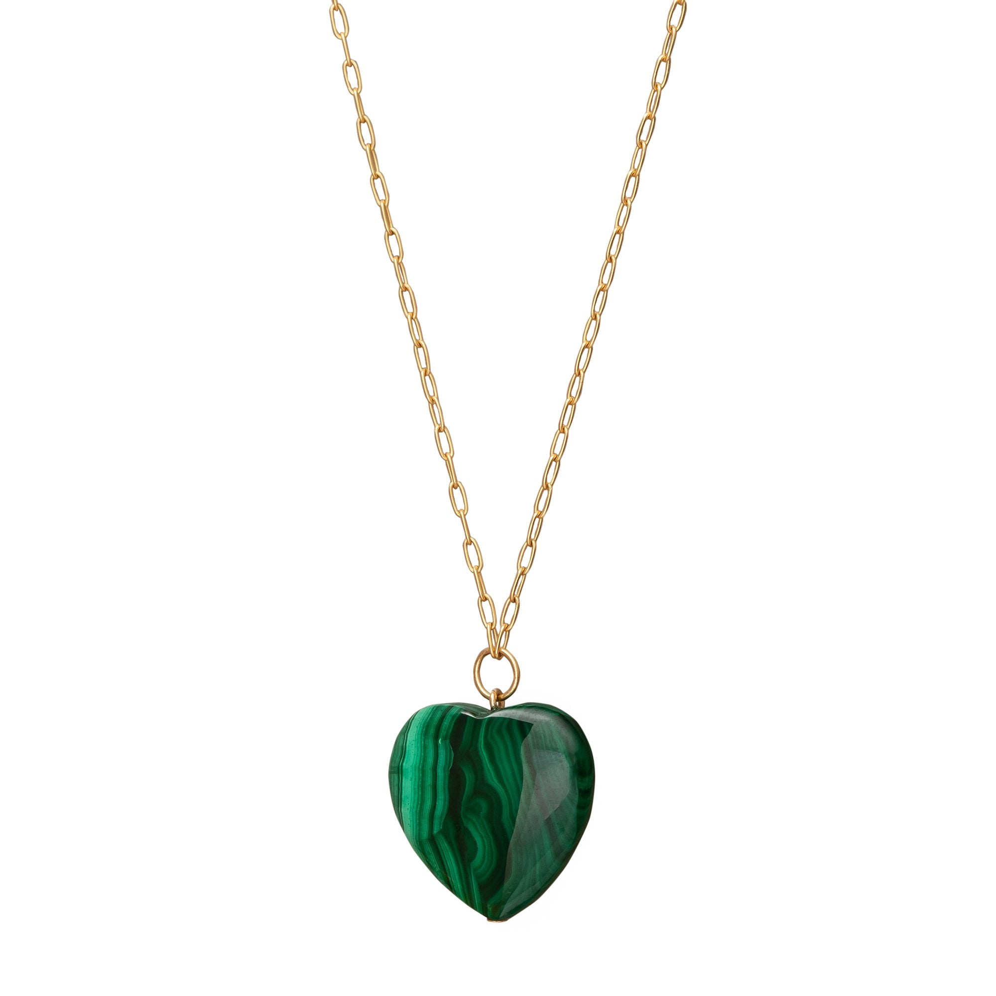 Malachite Heart Necklace - Haute Victoire - Necklaces | Broken English Jewelry