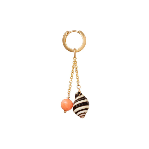 Les Charmantes Coral Shell Earring