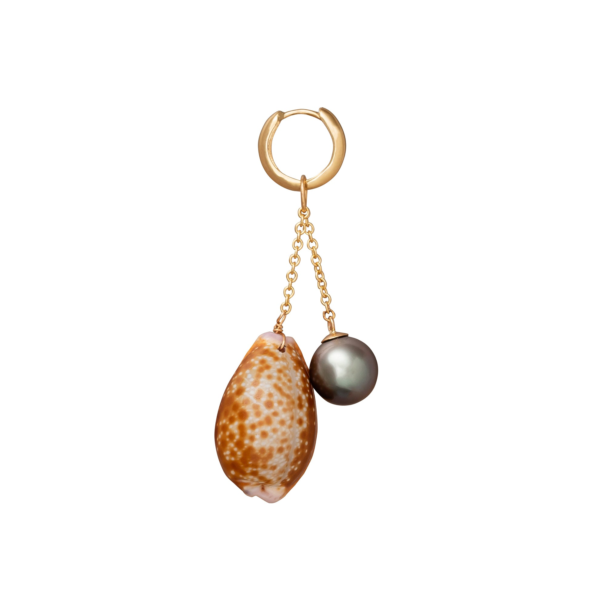 Les Charmantes Pearl and Shell Earring - Haute Victoire - Earrings | Broken English Jewelry