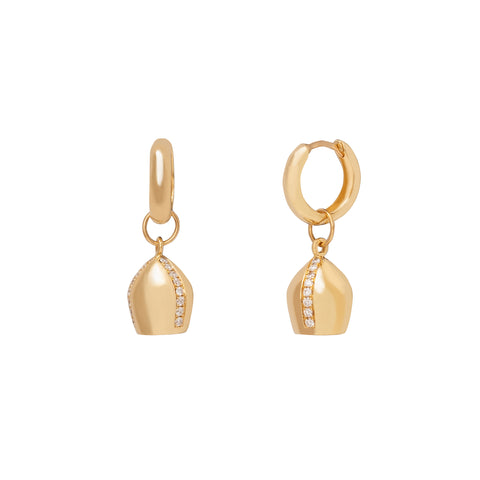 Nacre Des Lunes Hoop Earrings