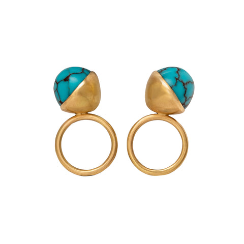 Turquoise Twin Angled Rings