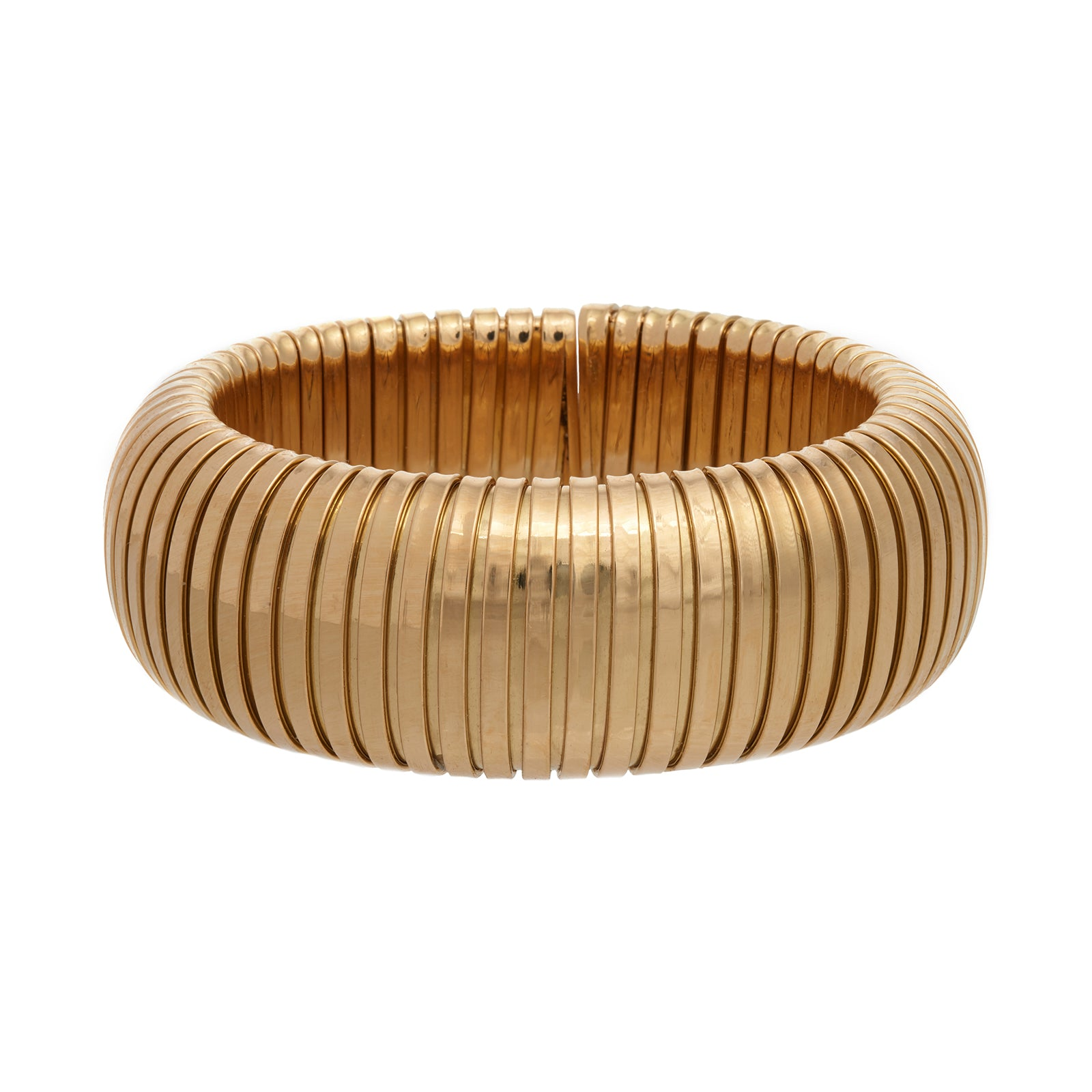 Sidney Garber Domed Cuff - Yellow Gold - Bracelets - Broken English Jewelry
