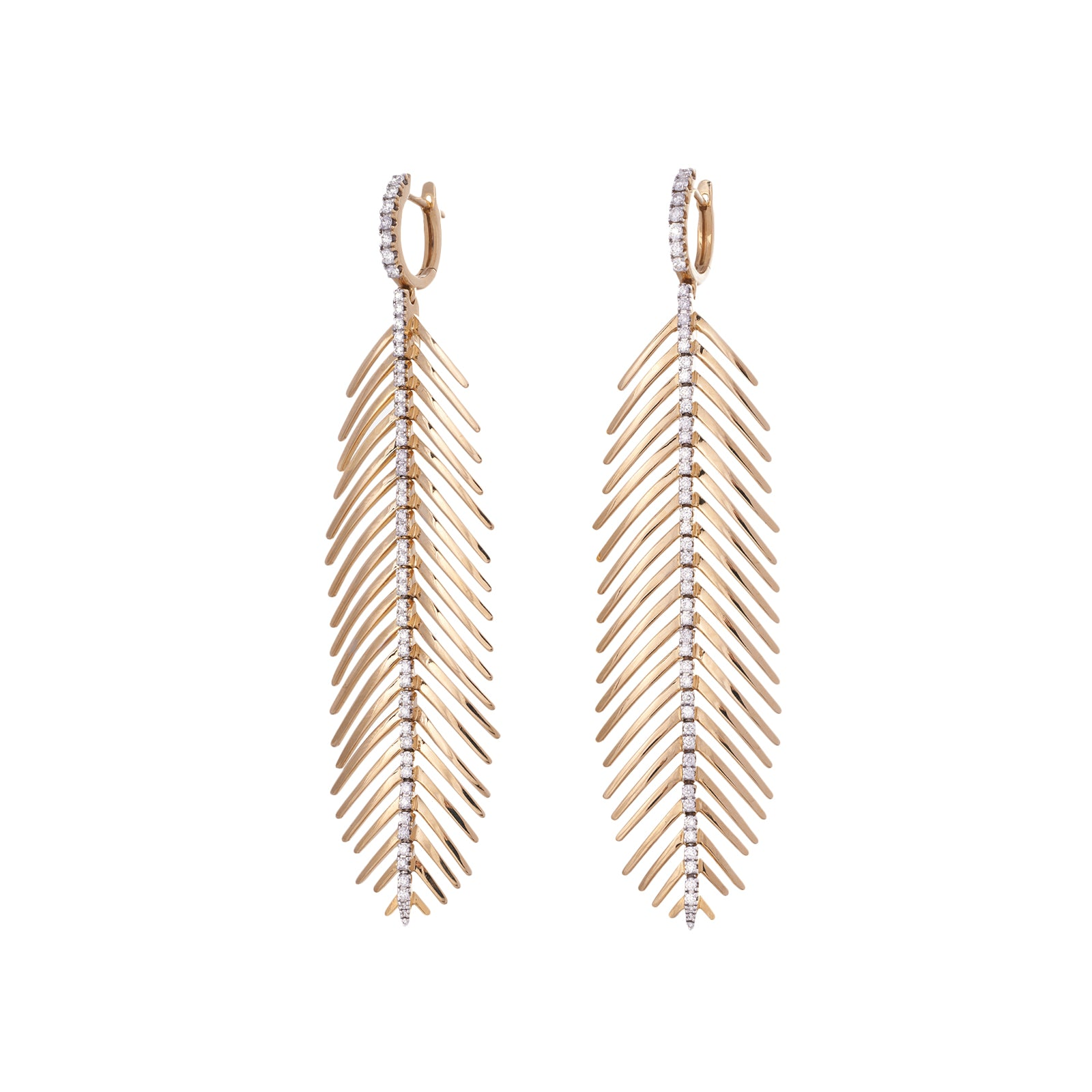 Sidney Garber Feathers That Move Earrings - Rose Gold - Earrings - Broken English Jewelry