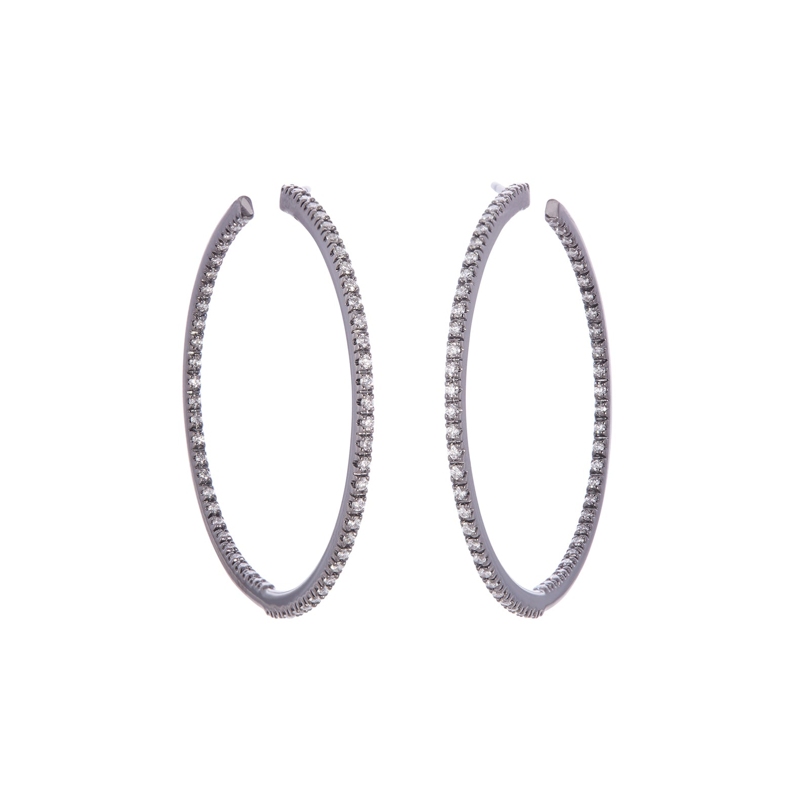 Sidney Garber Perfect Medium Hoops - White Gold - Earrings - Broken English Jewelry