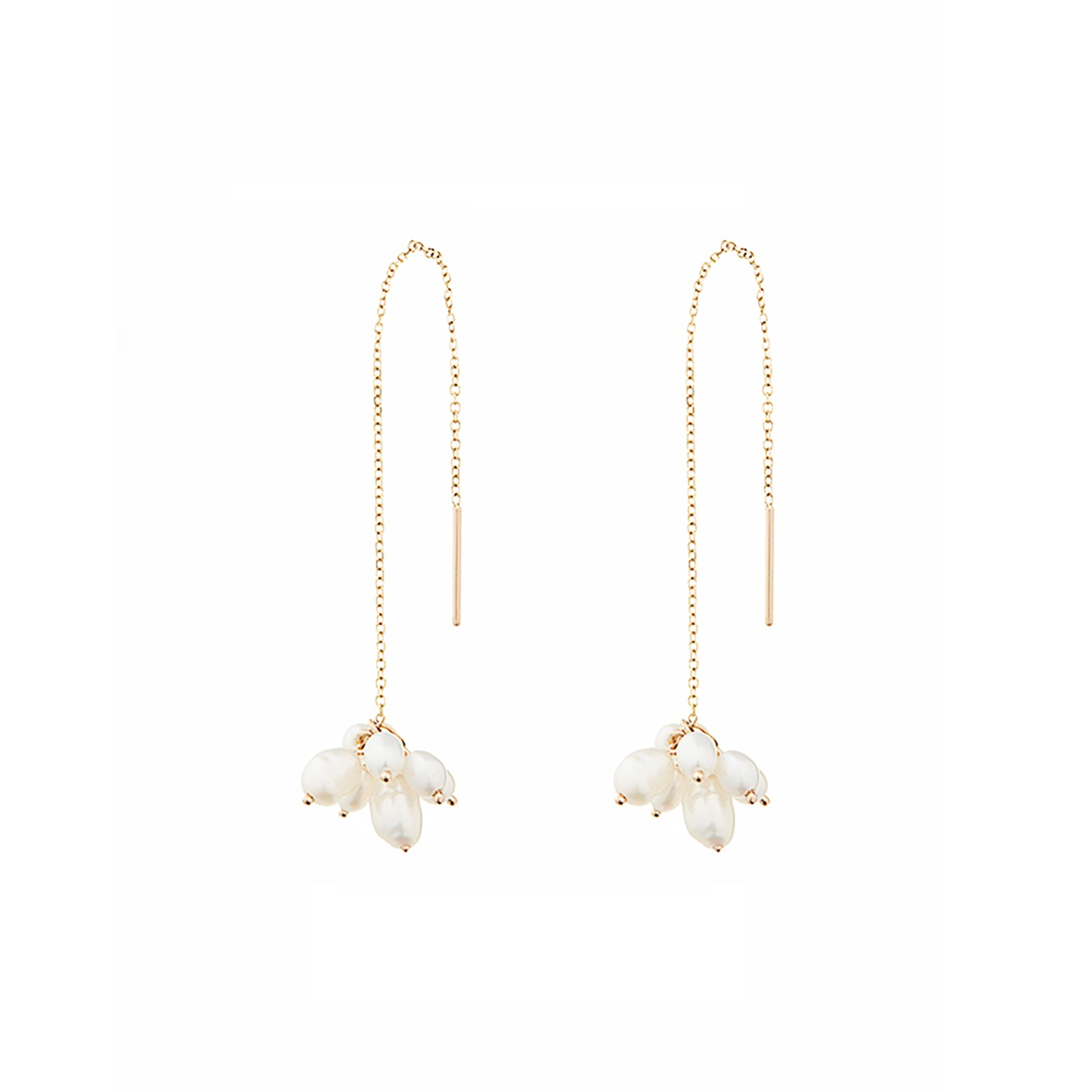 WWAKE Pearl Cloudburst Threader Earring - Earrings - Broken English Jewelry