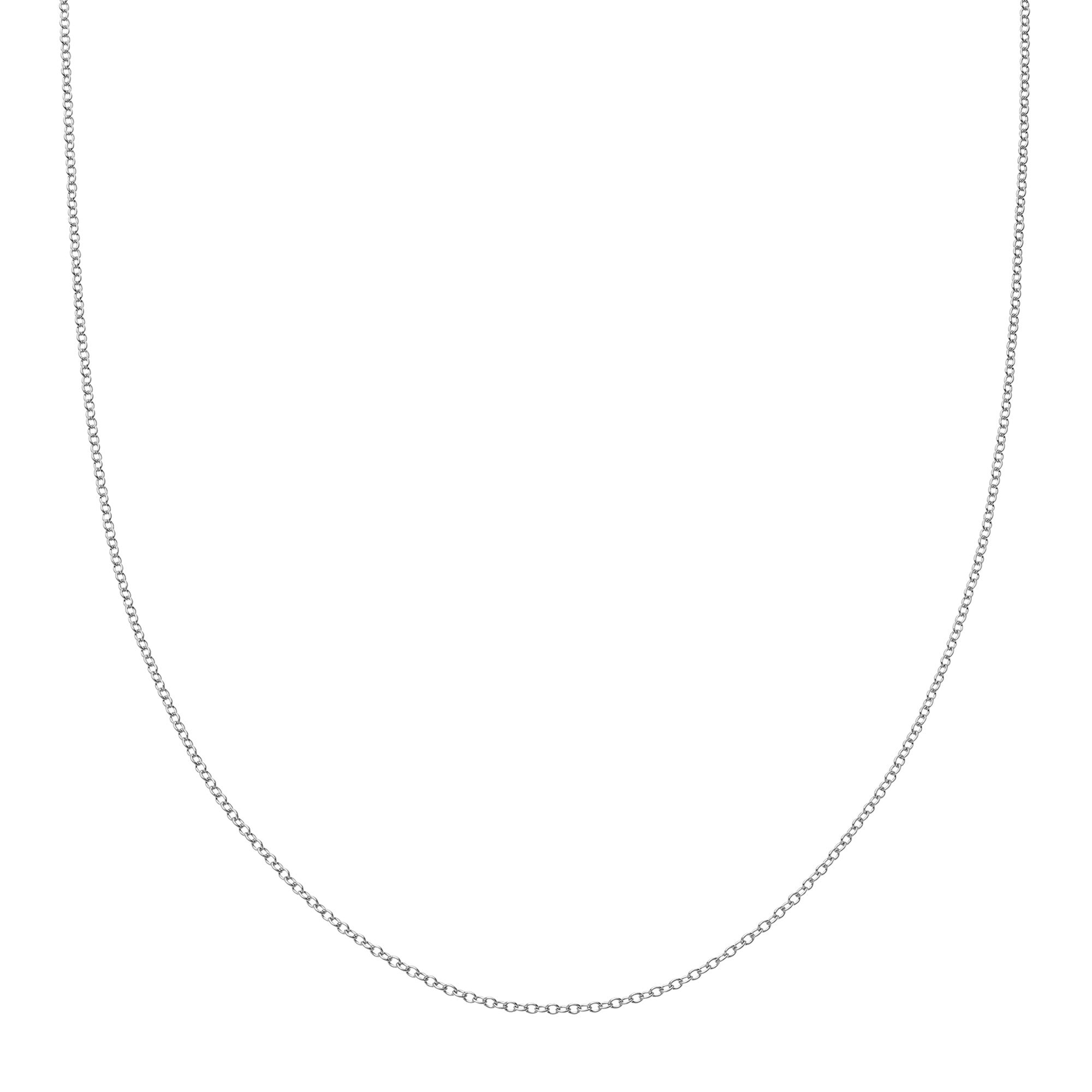 "Loquet 32"" Chain - White Gold - Necklaces - Broken English Jewelry"