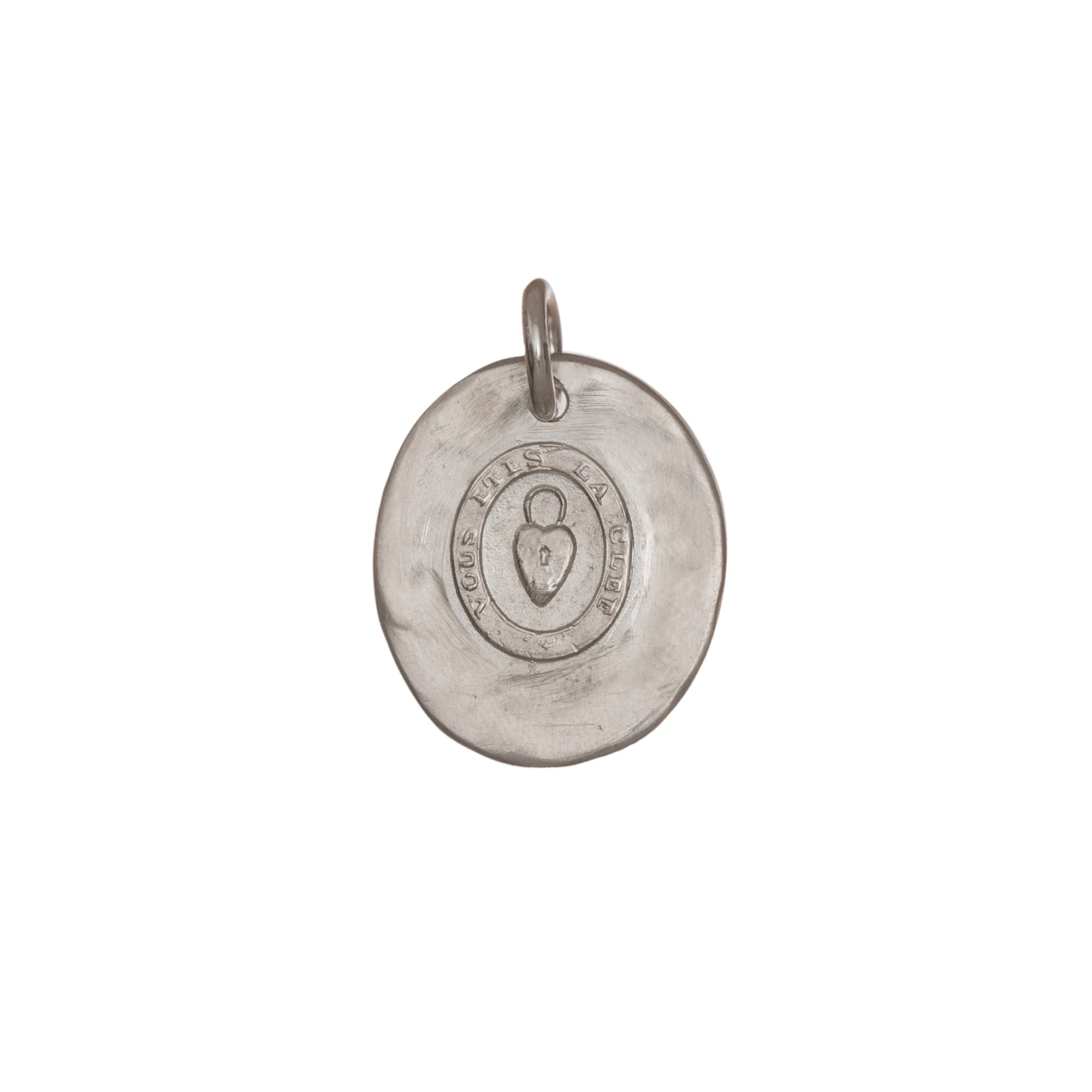 SS Vous Etes La Cle Pendant by James Colarusso for Broken English Jewelry