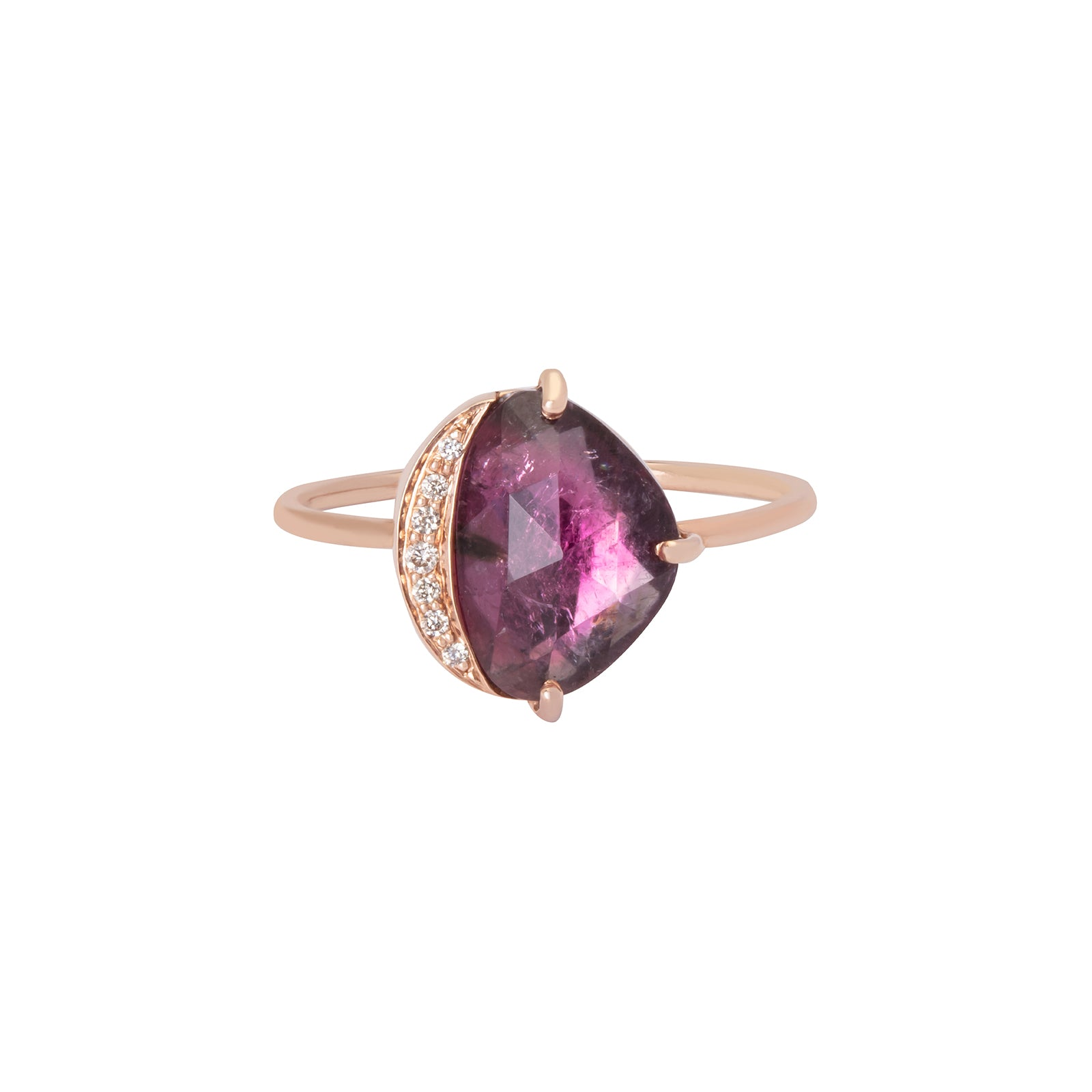 Celine Daoust Tourmaline & Diamonds Healing Ring - Rings - Broken English Jewelry