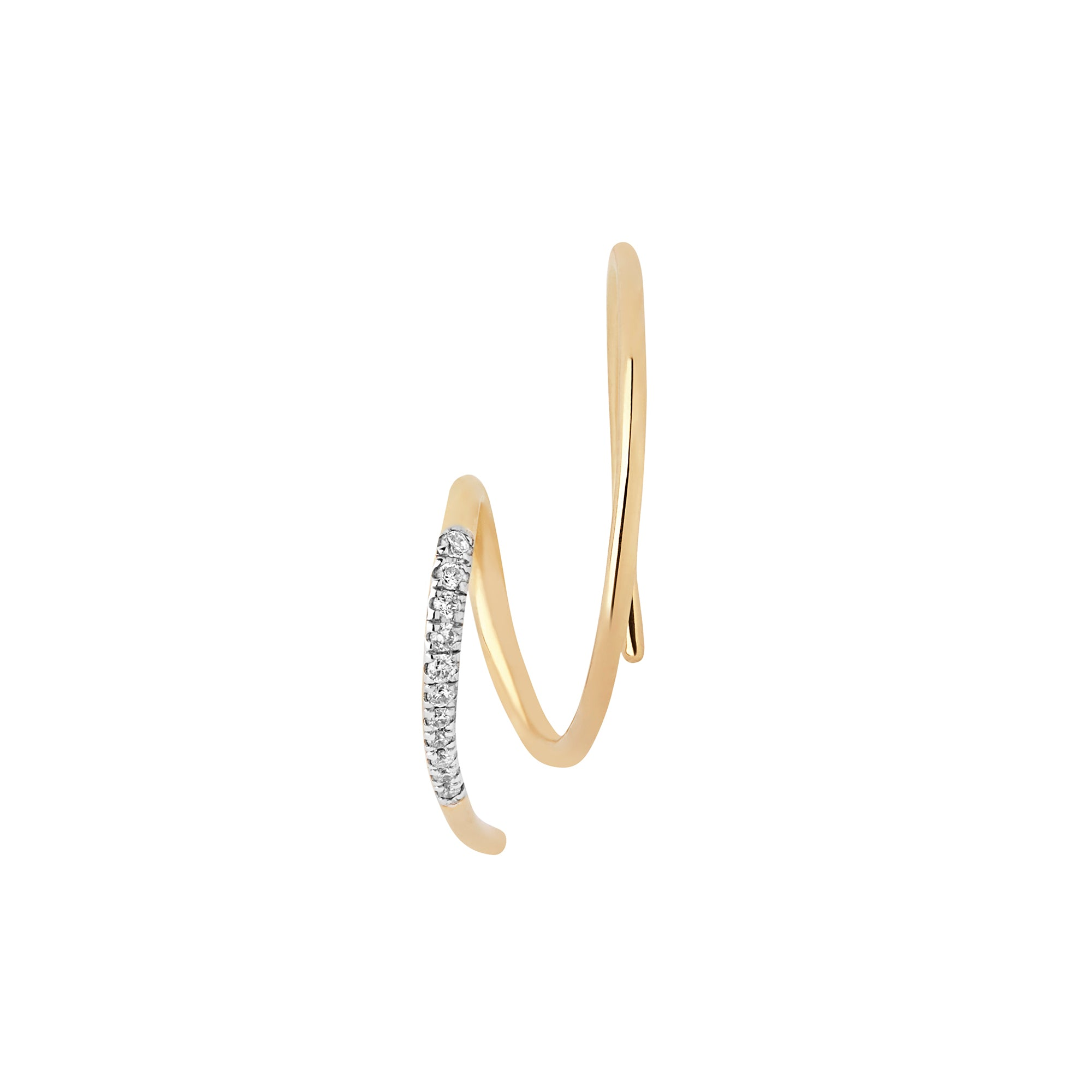 The Racer Diamond Earring by Maria Black for Broken English Jewelry
