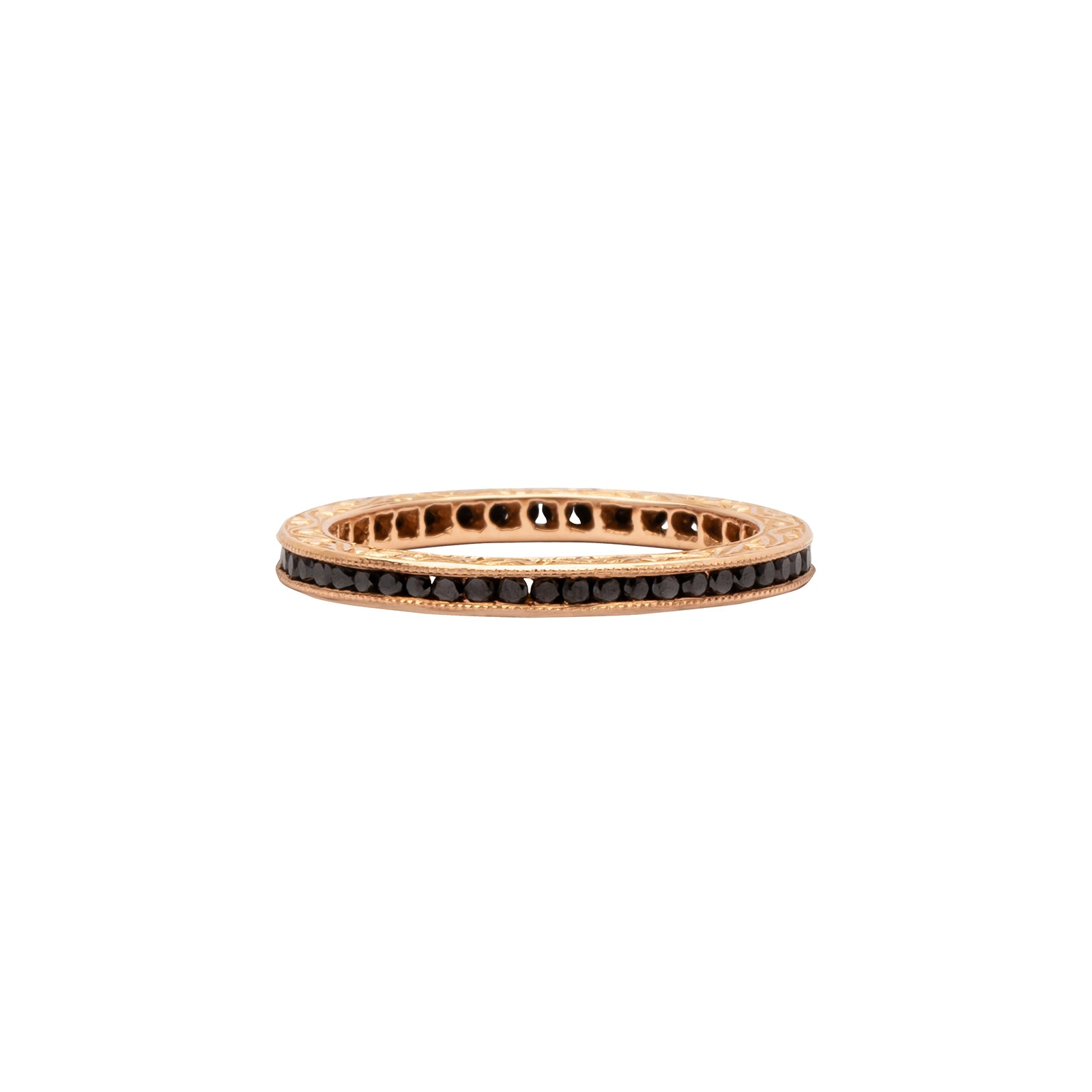 Sethi Couture Eternity Band - Black Diamond & Rose Gold - Rings - Broken English Jewelry