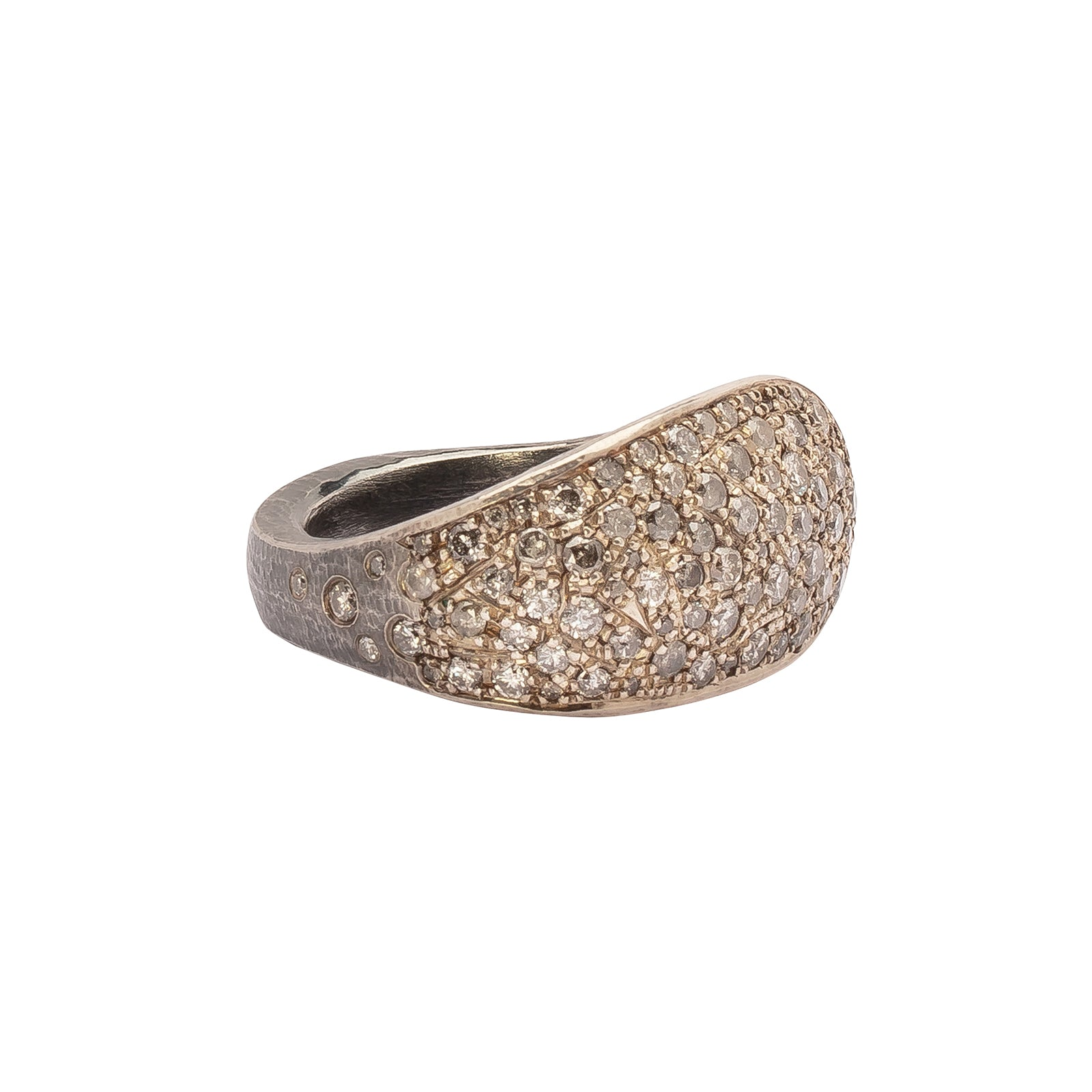 Atelier Zobel Statement Ring - Salt & Pepper Diamond - Rings - Broken English Jewelry