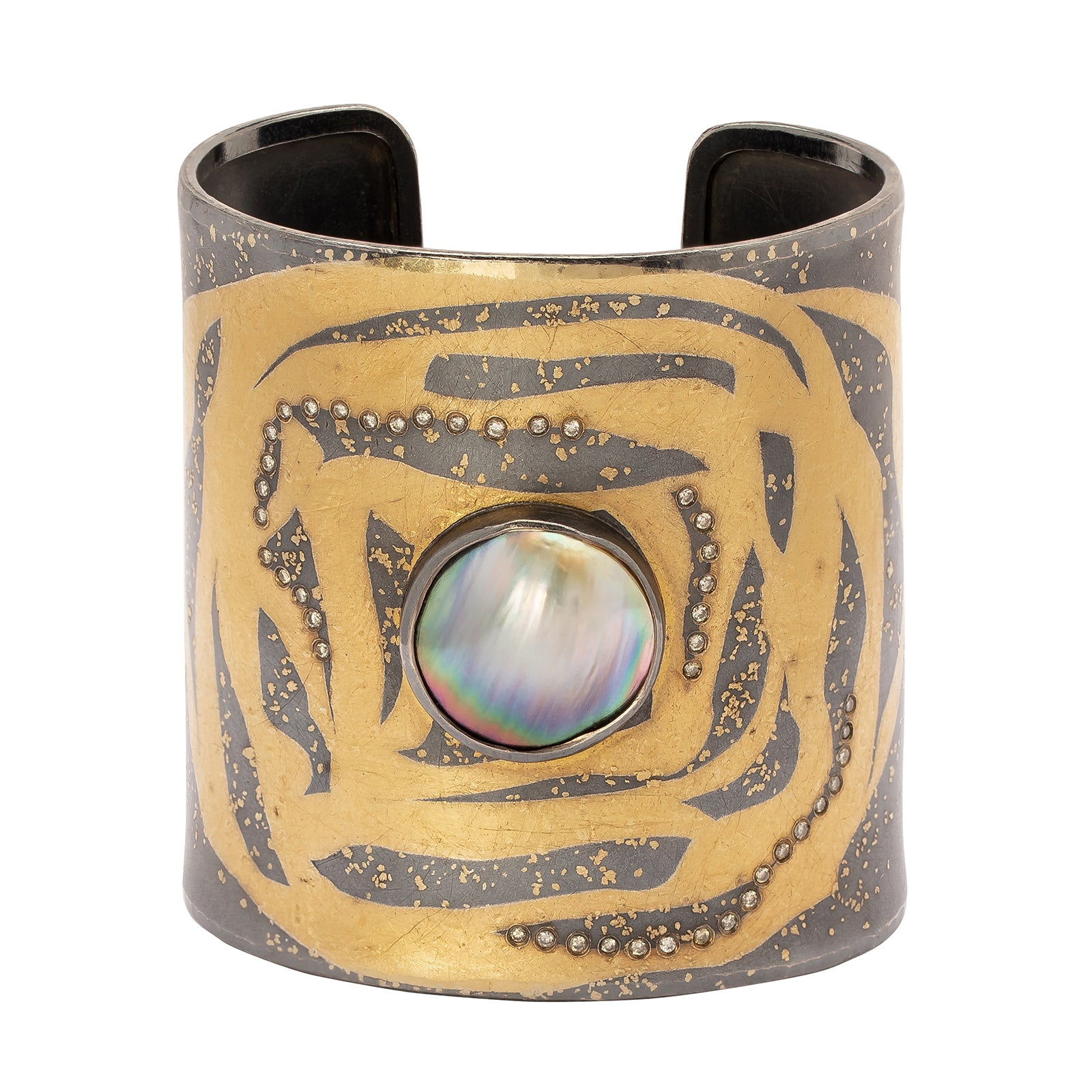 Atelier Zobel Statement Cuff - Pearl & Diamond - Bracelets - Broken English Jewelry