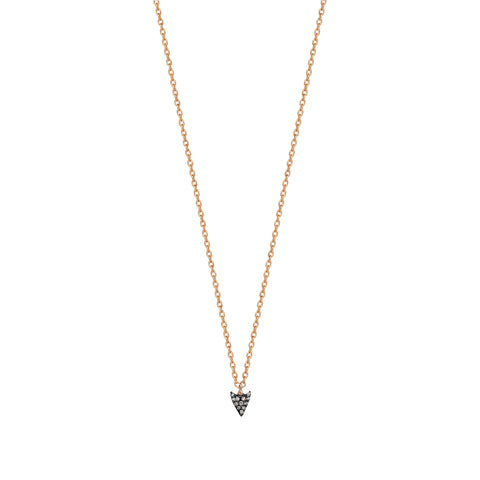 Arrowtip Pave Necklace - Kismet by Milka - Necklaces | Broken English Jewelry