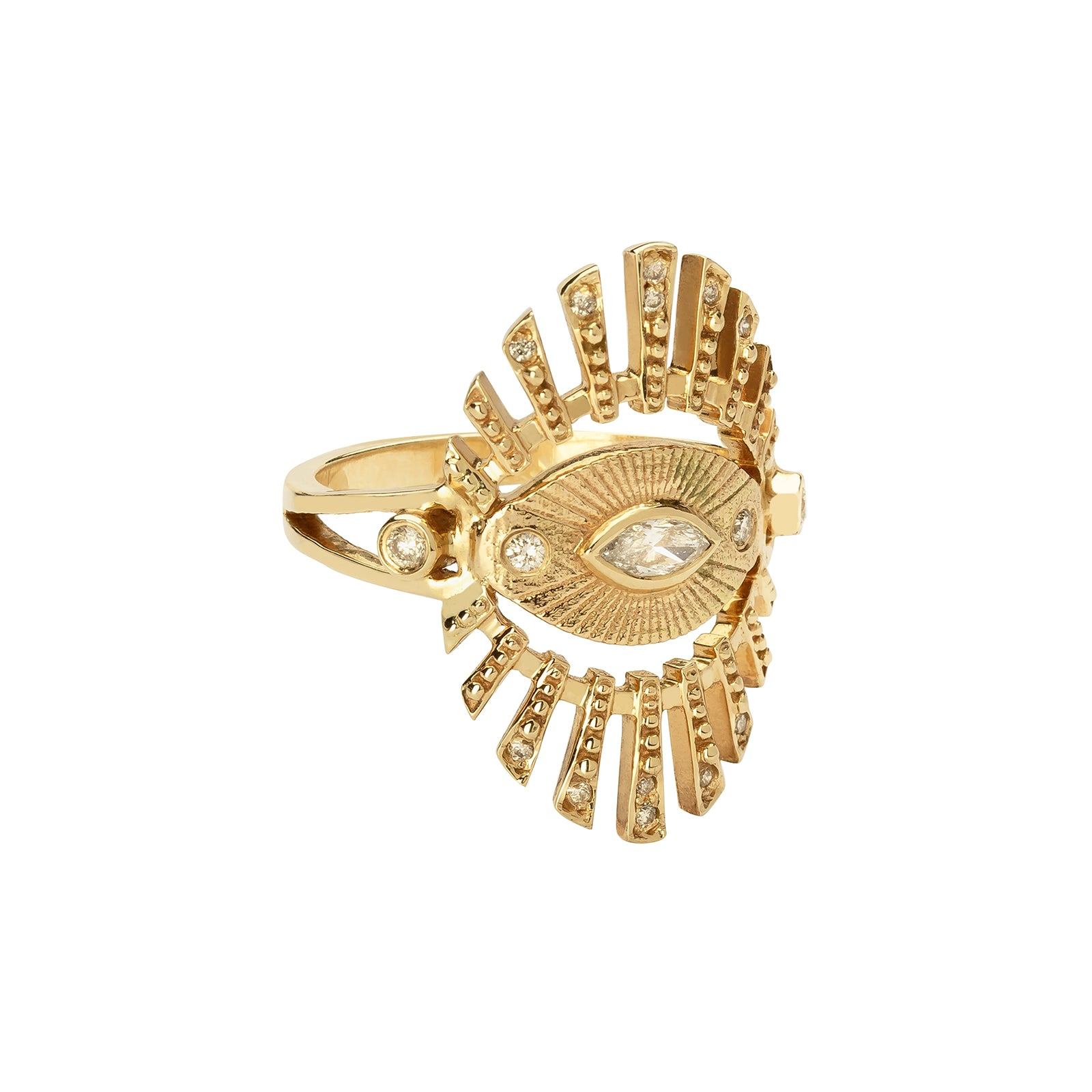 Celine Daoust Protection Sun Eye Ring - Rings - Broken English Jewelry