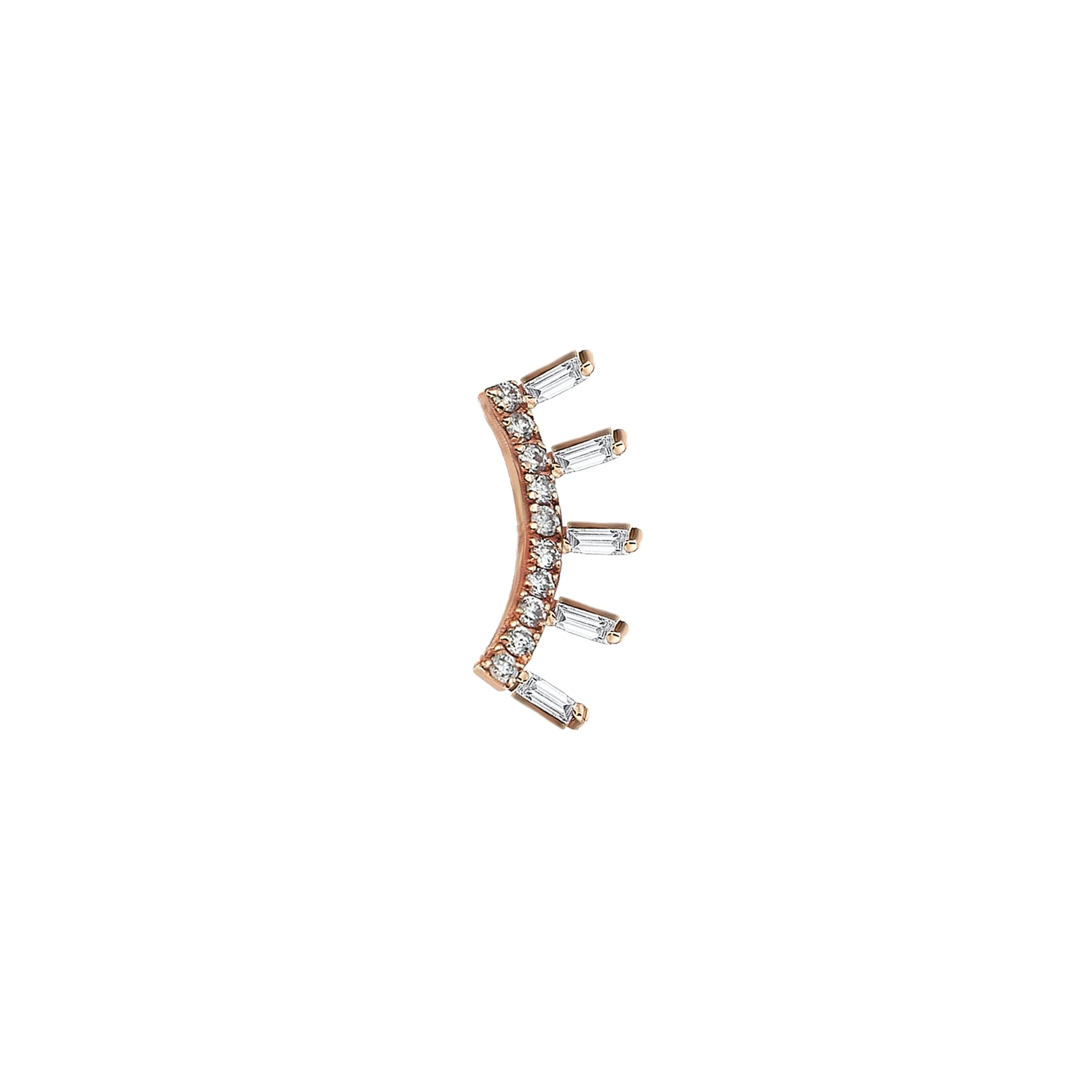 Ladder Baguette Stud Earring - Kismet by Milka - Earrings | Broken English Jewelry
