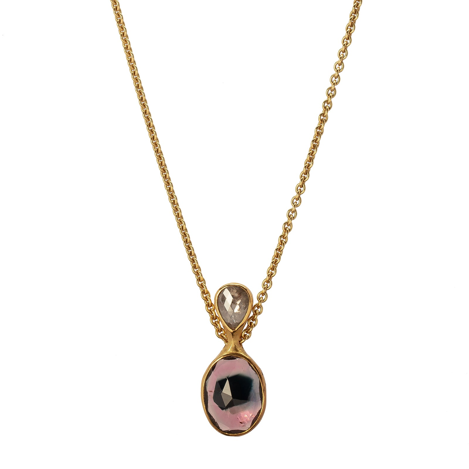 Atelier Zobel Pendant Necklace - Tourmaline - Necklaces - Broken English Jewelry