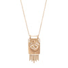Celine Daoust Gold Plate & Dangling Eye Necklace - Necklaces - Broken English Jewelry