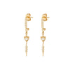 Celine Daoust Eye Sapphire And Dangling Detail Earrings - Earrings - Broken English Jewelry