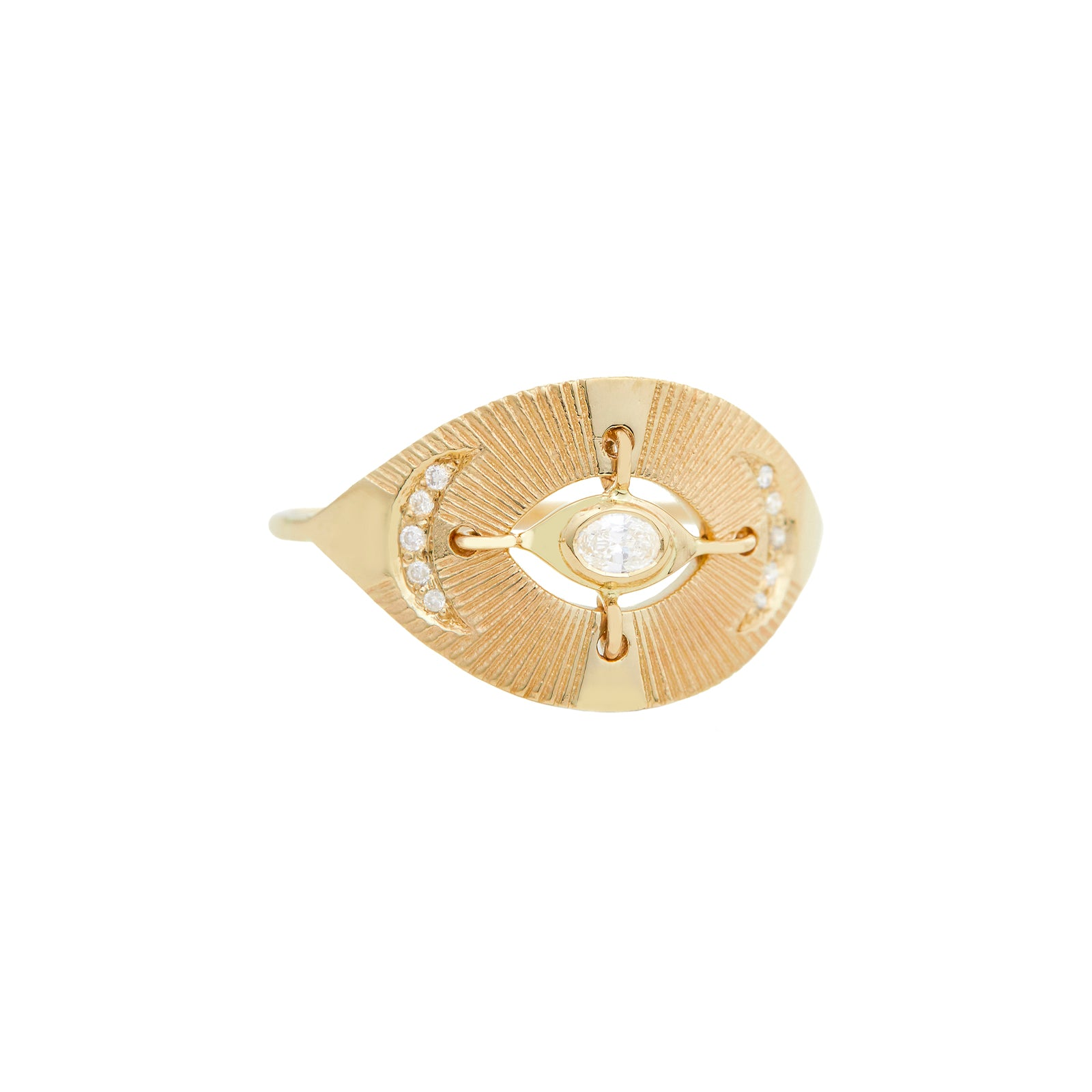 Celine Daoust Eye & Sun Ring - Diamond - Rings - Broken English Jewelry