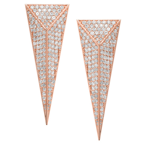 Diamond Pyramid Dagger Earrings