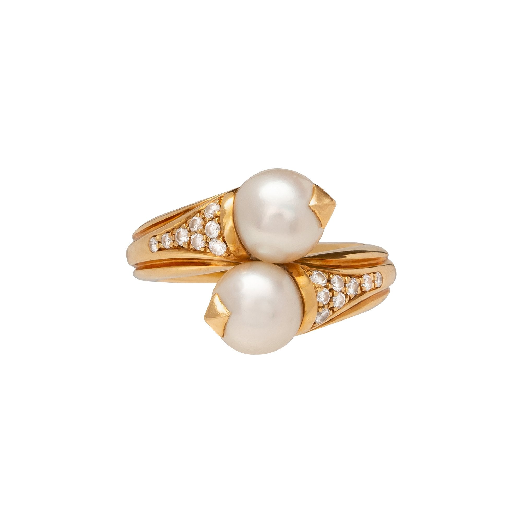 Vintage Bulgari Pearl Ring - Antique & Vintage - Rings | Broken English Jewelry